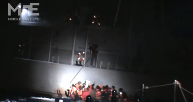 Video Shows Greek Coast Guard Attempting To Sink Boat Of Syrian Refugees