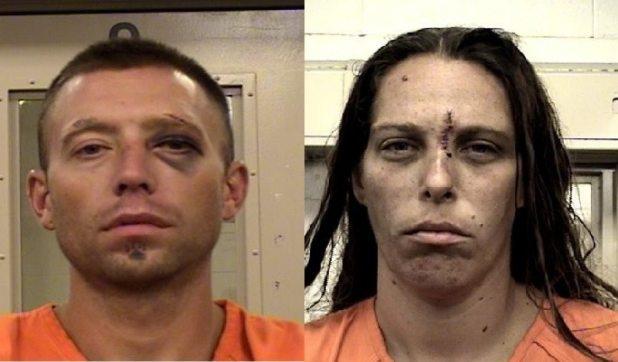 Fabian Gonzales and Michelle Martens were arrested Wednesday in Albuquerque. (Bernalillo County Metropolitan Detention Center)
