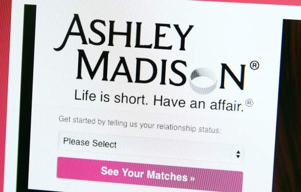 The homepage of Ashley Madison, a website for aduletrers. (Getty)