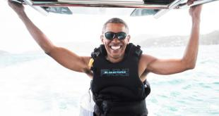 Obama Kiteboards in Caribbean with Billionaire Richard Branson