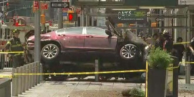 One dead, 19 Injured as a Car Plows Into Pedestrians in New York's Times Square