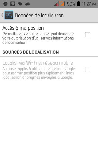Desactiver La Localisation Android