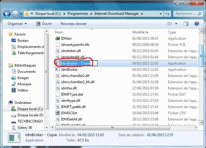 Modifier idmBroker.exe