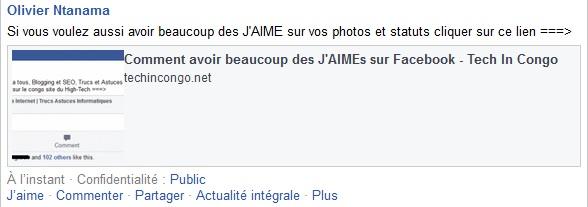 Statut facebook avant LikeLikeGo