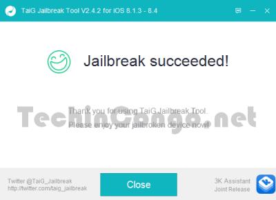 Fin Jailbreak avec TaiG