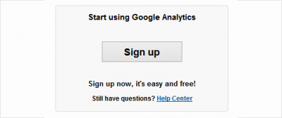 Inscription Google Analytics 400x168 Google Analytics : Qui visite votre site ? Que visite-t-il ? : Analyse d'audience