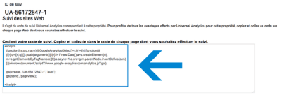 code de suivi Google Analytics 400x136 Google Analytics : Qui visite votre site ? Que visite-t-il ? : Analyse d'audience