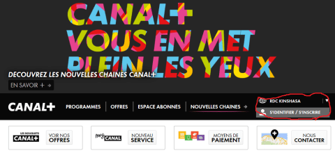 Inscription sur Canalsat+