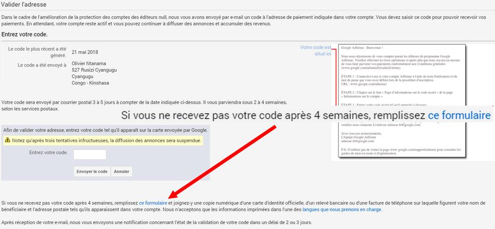 formulaire adsense Comment valider son compte Google Adsense sans code PIN (boîte postale)