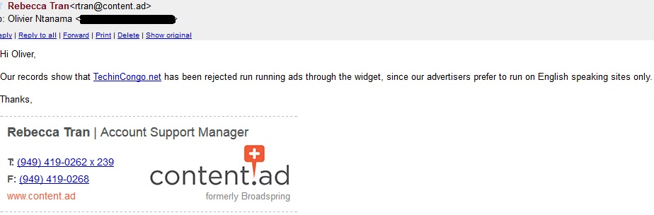 RevenueHits runs ads on English sites only