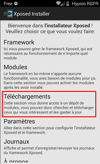 Telechargement Module Xposed 1