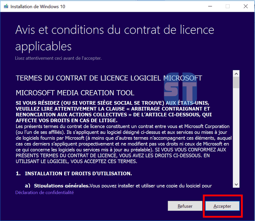Contrat de licence Windows 10 Télécharger Windows 10 (64 & 32bits) ISO gratuitement – la dernière version