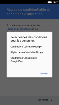 Conditions d'utilisation de Google Play
