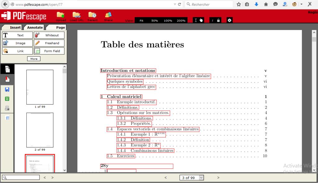 Editeur PDF en ligne PDFescape 1024x591 Comment Éditer un Fichier PDF avec ou sans Logiciel