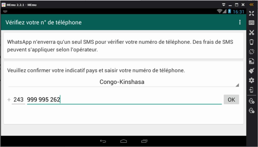 Utiliser WhatsApp avec MEmu sur PC