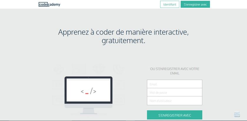 codecademy Les meilleurs sites gratuits pour apprendre à programmer.