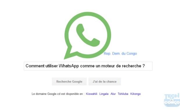 WhatsApp moteur de recherche Voici comment consulter Wikipedia et Google dans WhatsApp