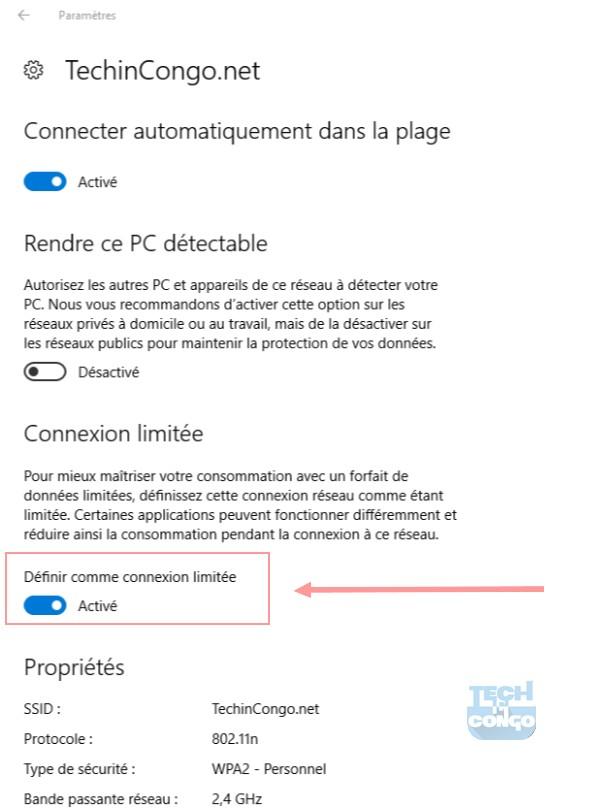 Definir comme connexion WiFi limitee Comment réduire la consommation abusive des données de Windows 10