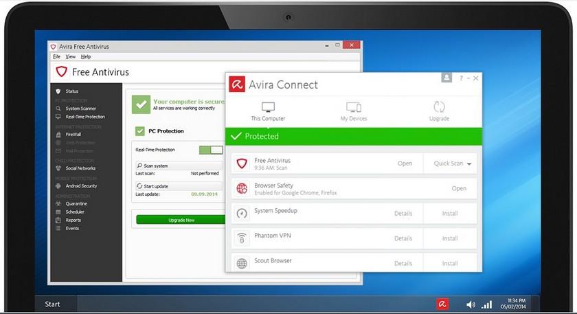 Avira Antivirus Gratuit Les 5 meilleurs Antivirus gratuits pour Windows et Mac – Comparatif 2017