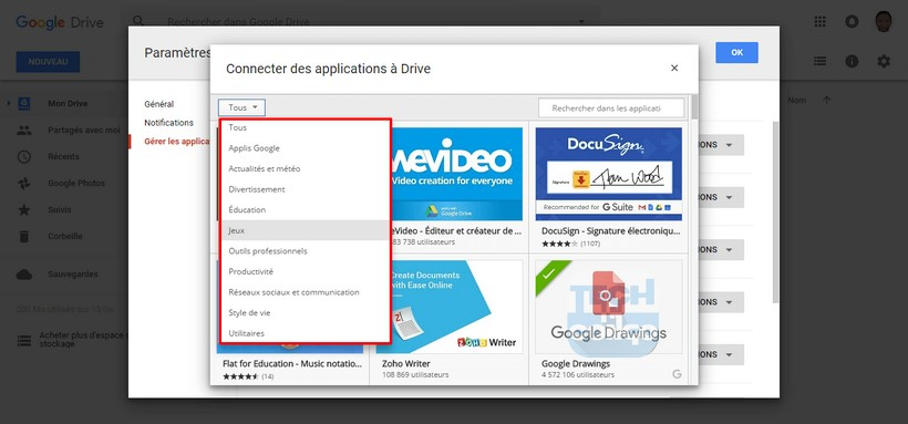 Trier applications Google Drive Comment installer et utiliser des applications dans Google Drive