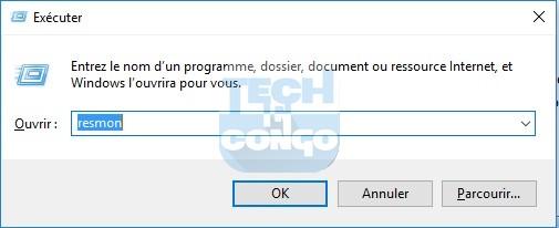 resmon Liste des commandes « exécuter » (Run) utiles pour Windows 10 / 8 /7