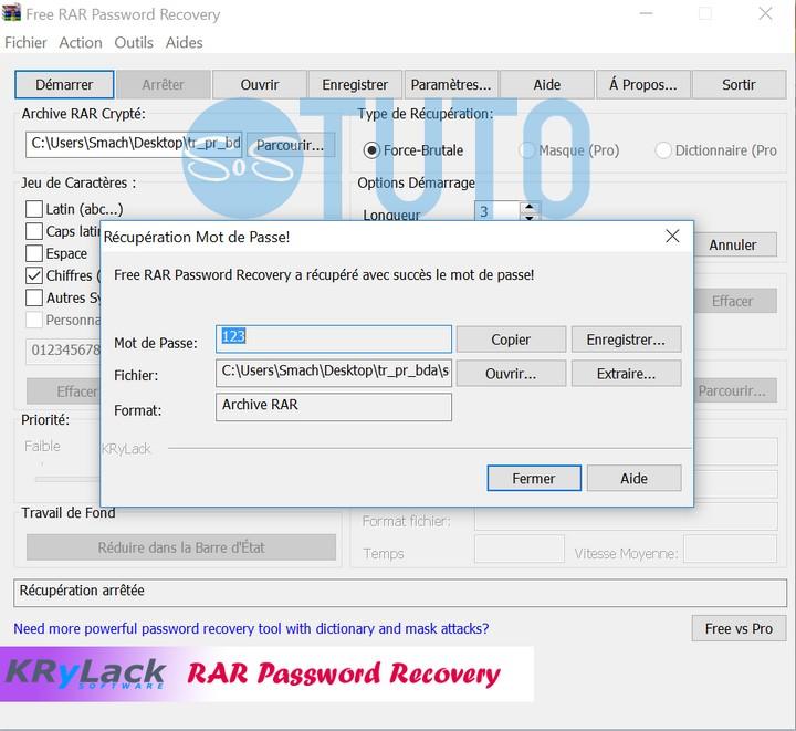 Mot de passe WinRAR trouvé Comment cracker un mot de passe d'un fichier WinRAR crypté