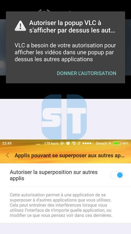 VLC Autorisation Pop up Comment activer le mode Picture in Picture sur Android