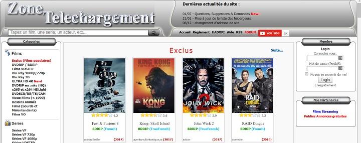 Zone telechrgement 2017 Top 10 des meilleurs sites Torrents français pour télécharger des films & séries