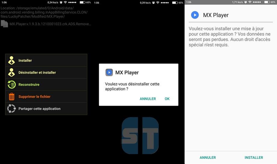 Lucky Patcher sur MX Player Comment cracker une application Android avec Lucky Patcher