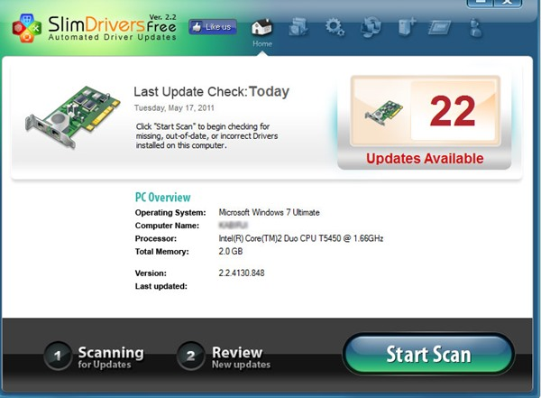 SlimDrivers Top 5 logiciels de mise à jour des pilotes pour Windows gratuitement