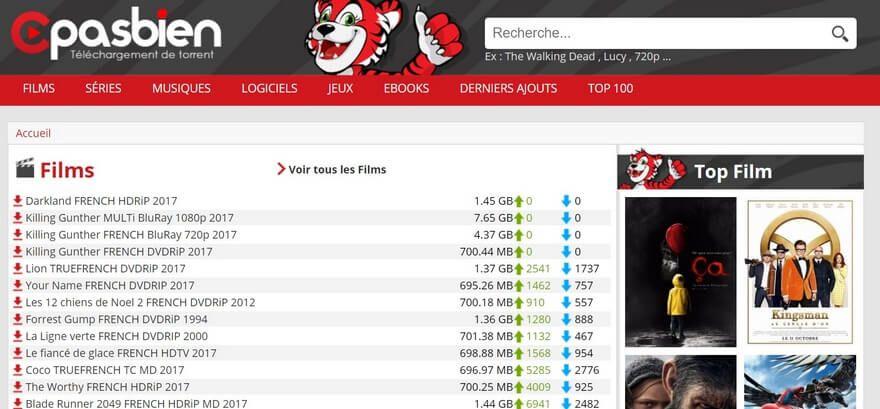 cpasbien Top 10 des meilleurs sites Torrents français pour télécharger des films & séries