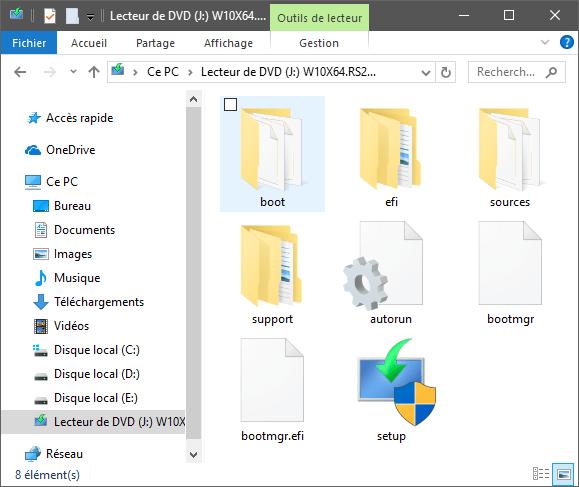 CD Windows 10 Comment rendre une clé USB bootable sans la formater