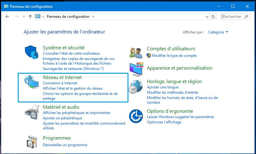 Panneau de configuration Comment trouver les mots de passe WiFi enregistrés sans logiciel sous Windows