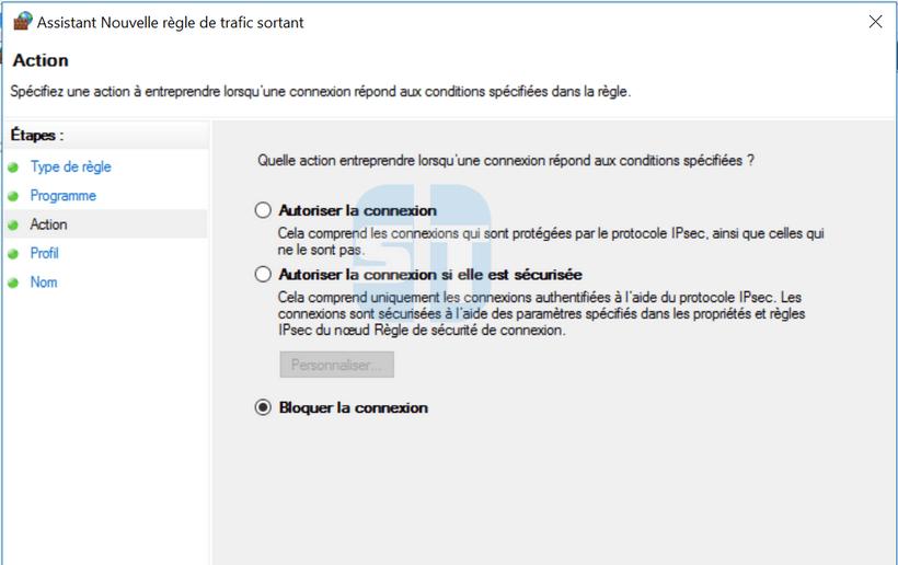 Bloquer la connexion de Firefox de Firefox Comment empêcher un programme d'accéder à internet sans logiciel