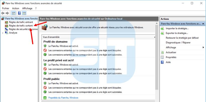 parametres avancées pare feu Windows Comment empêcher un programme d'accéder à internet sans logiciel