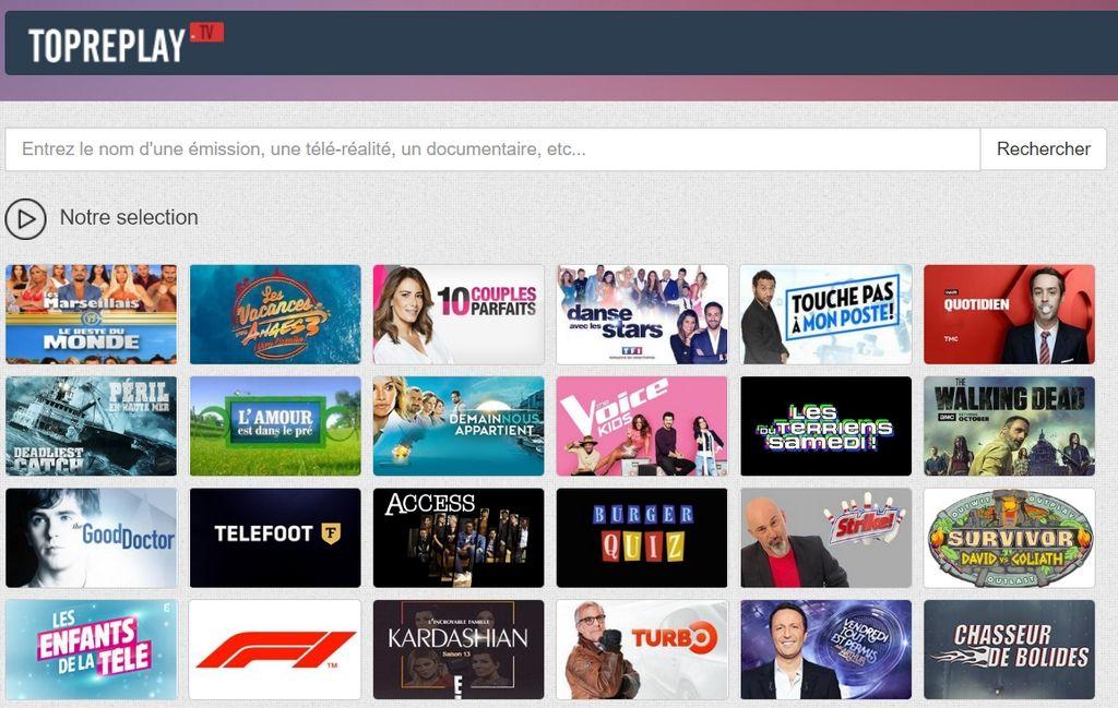 TopReplay TV Les Sites de Streaming Gratuits pour voir les Films et Séries en Français