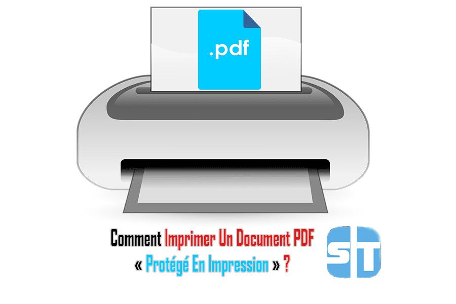 Illustration Imprimer un document pdf