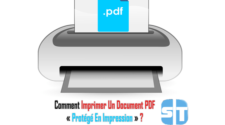 Illustration Imprimer un document pdf
