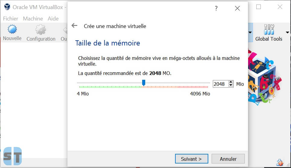 RAM machine virtuelle Comment installer OS X sur Windows 10, 8, 7 avec une machine virtuelle