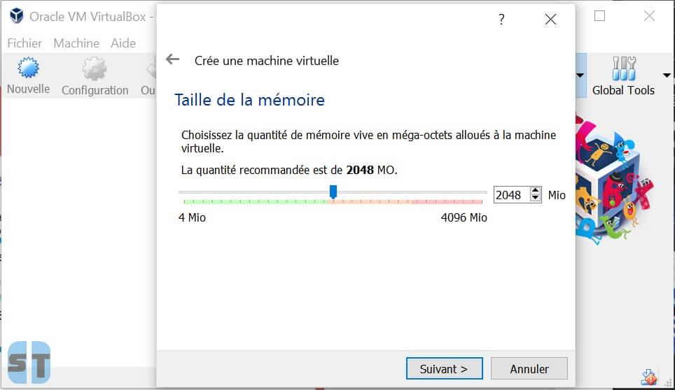 RAM machine virtuelle Comment installer OS X sur Windows 10, 8, 7 avec une machine virtuelle