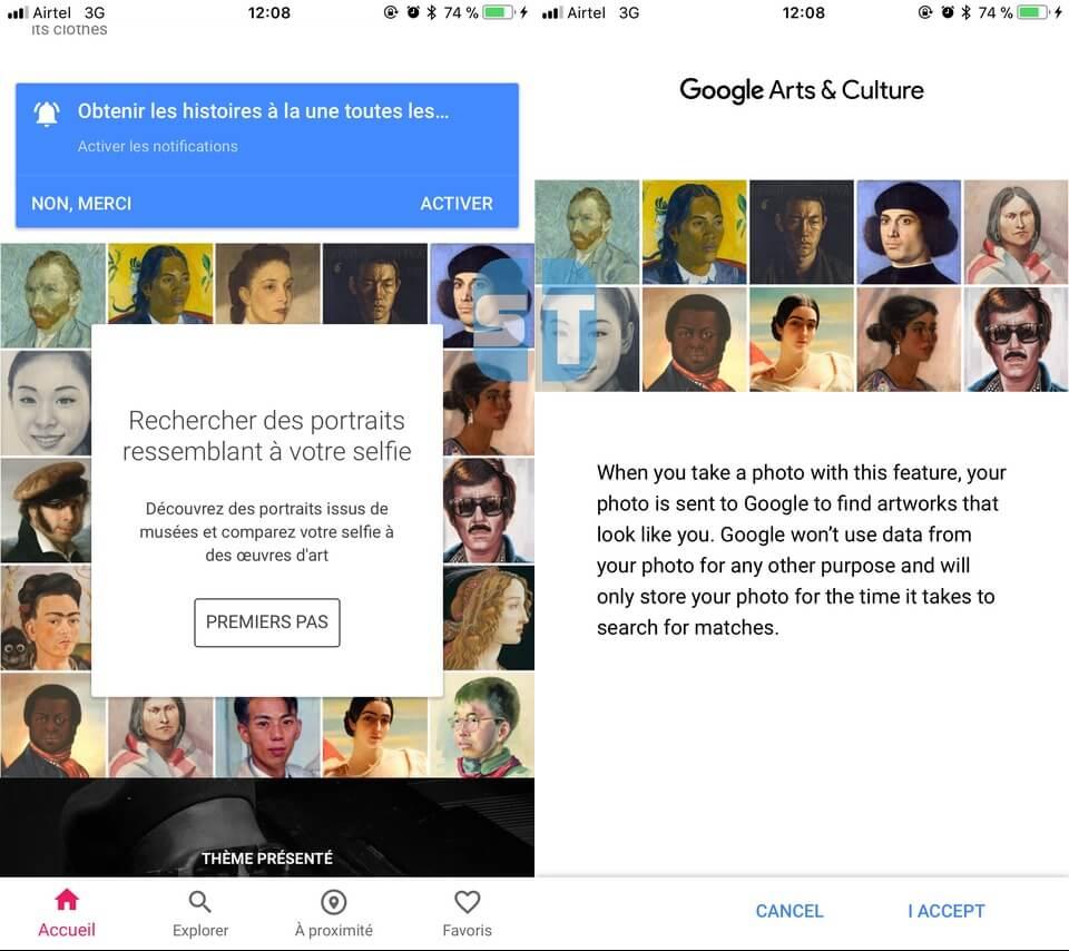 Rechercher des portraits à votre selfie Comment utiliser Google Arts & Culture en dehors des États-Unis