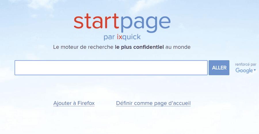 startpage ixquick Alternatives à Google: 7 moteurs de recherche en français inconnus du public