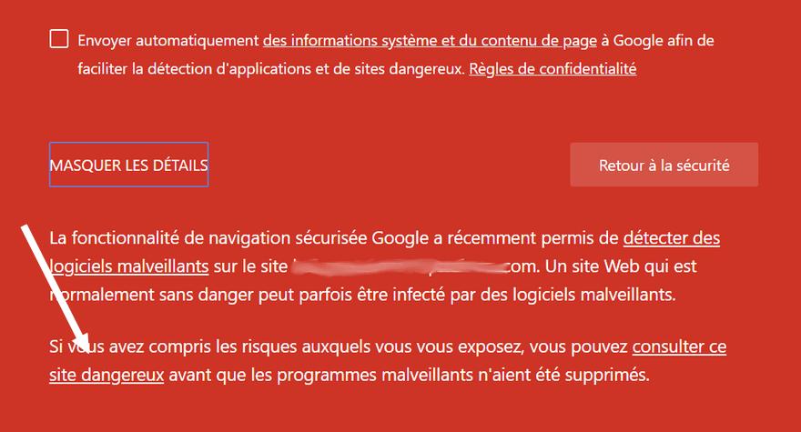 Consulter ce site dangereux dans Chrome Comment fixer les erreurs liées à la sécurité dans Google Chrome