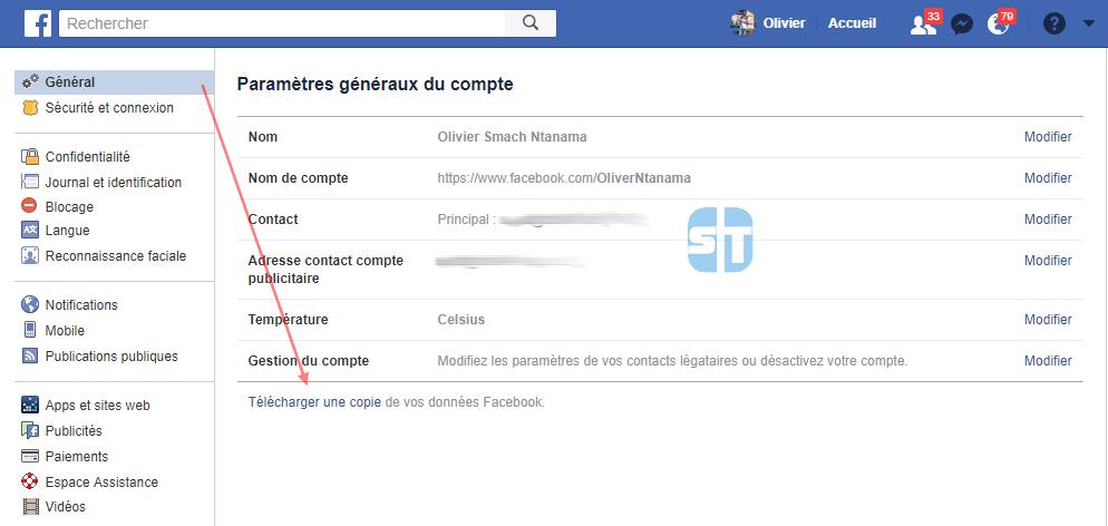 Parametres Facebook Comment télécharger une copie des données que Facebook sait sur vous