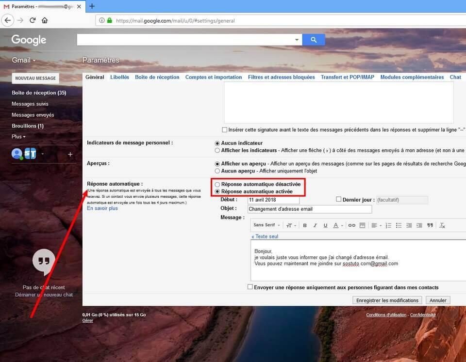 Reponse automatique Gmail Guide complet pour changer d'adresse mail Gmail ou compte Google sans rien perdre