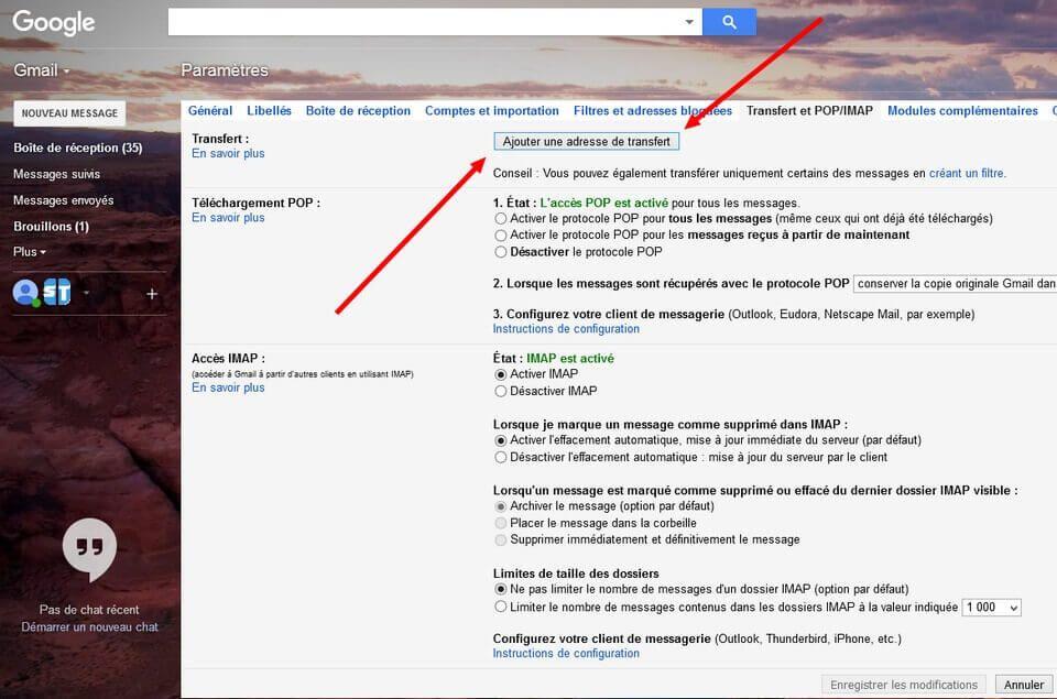 Transfert POP IMAP Guide complet pour changer d'adresse mail Gmail ou compte Google sans rien perdre