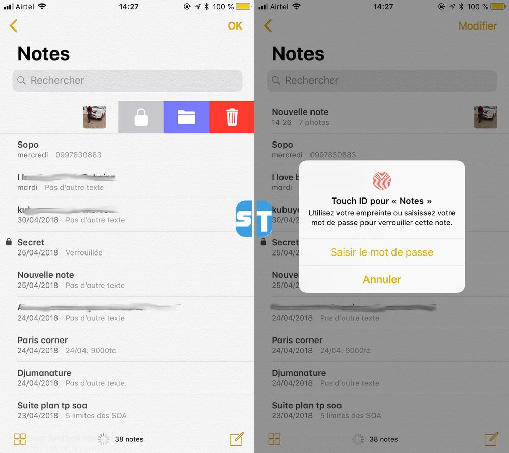 Note protegé avec mot de passe 5 applications gratuites pour cacher des photos sur iPhone