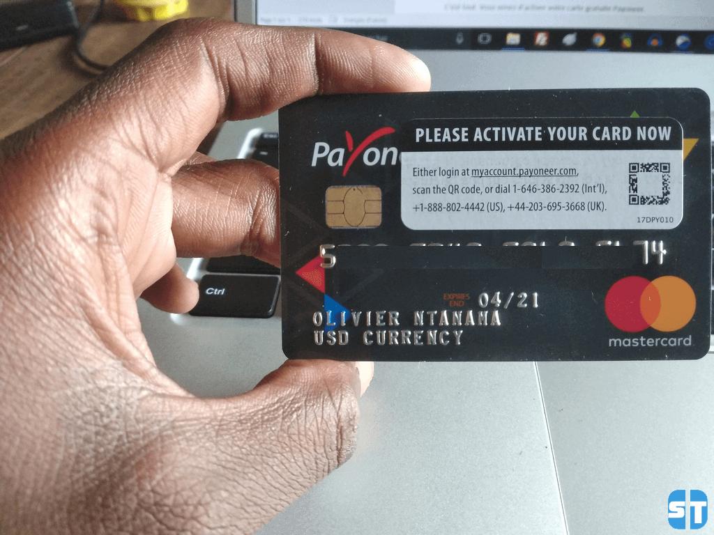 carte payoneer mastercard Guide 3 Payoneer: Comment activer ma carte MasterCard Payoneer