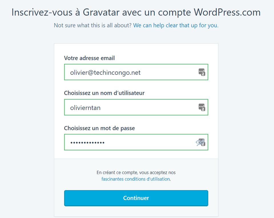 inscription gravatar Gravatar – Comment afficher votre photo sur votre commentaire sur un blog
