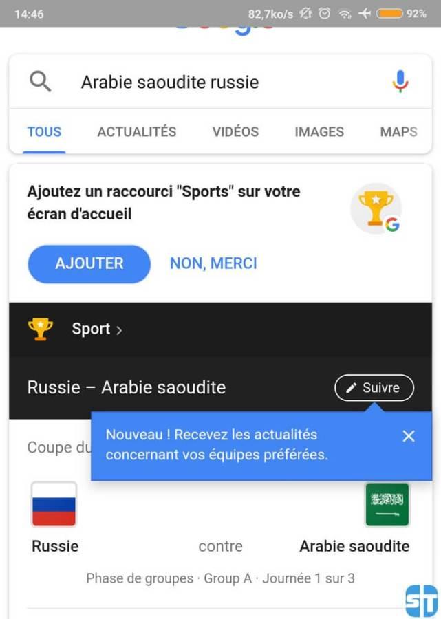 Details match daujourdhui dans Google 641x900 Coupe du Monde 2018 : Voici comment avoir les résultats des match sans application